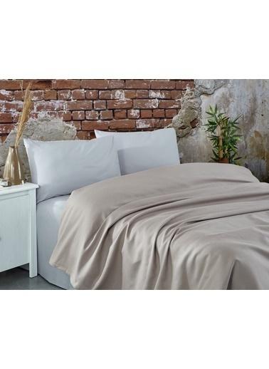 Komfort Home Çift Kişilik Ranforce %100 Pamuk Pike / Sütlü Kahve Kahve